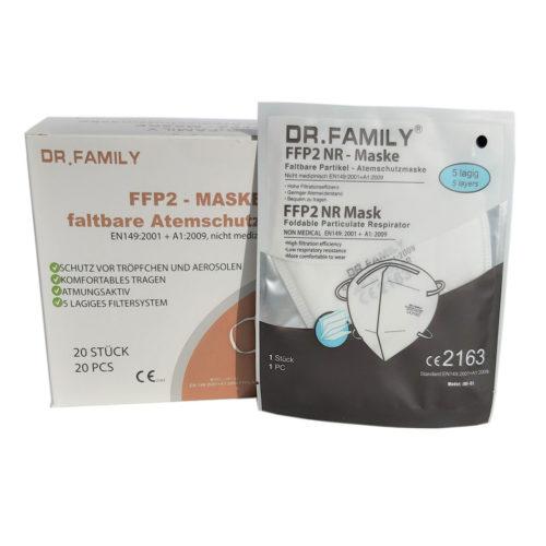 DR. FAMILY FFP2 Masken-Einzeln_verpackt Verpackung